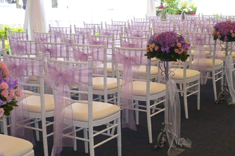 Wedding Chairs Set Up