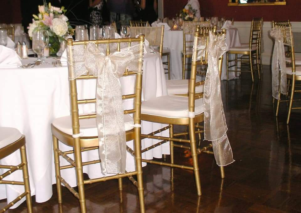 Chair and linen rentals from Pink Elephant